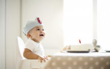 baby celebrating first birthday